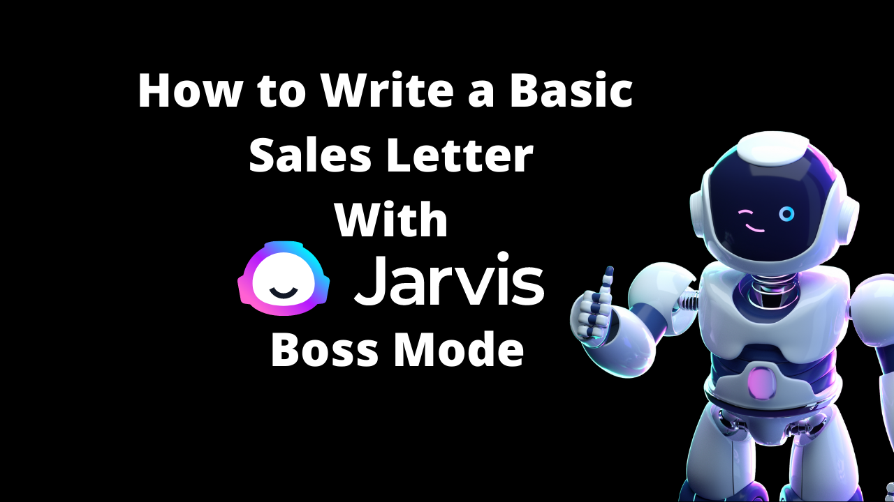 How to Write a Basic Sales Letter for a Local Business with Jarvis